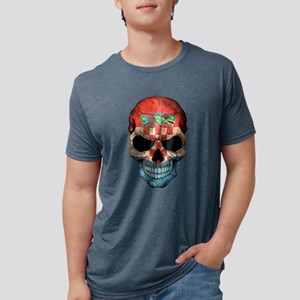 Croatian Flag Skull T-Shirt