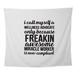 freakin awesome wellness Wall Tapestry