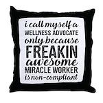 freakin awesome wellness Throw Pillow
