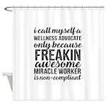 freakin awesome wellness Shower Curtain