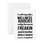 freakin awesome wellness Greeting Cards