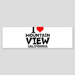 I Love Mountain View, California Bumper Sticker