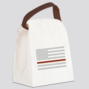 THIN RED LINE Canvas Lunch Bag
