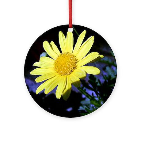 Yellow Daisy Ornament (Round)