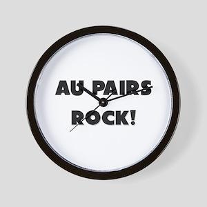 Au Pairs ROCK Wall Clock