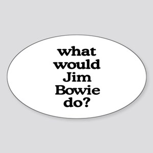 Jim Bowie Oval Sticker