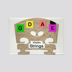 Violin and Fiddle Strings Rectangle Magnet