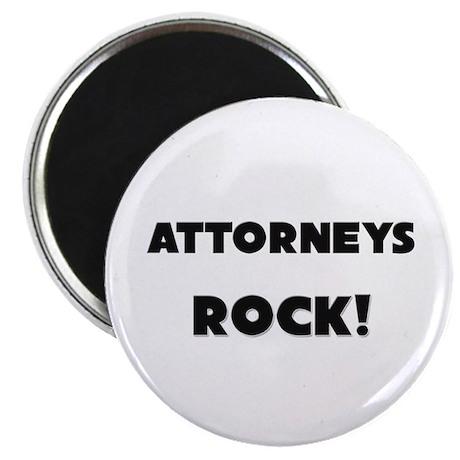 "Attorneys ROCK 2.25"" Magnet (10 pack)"