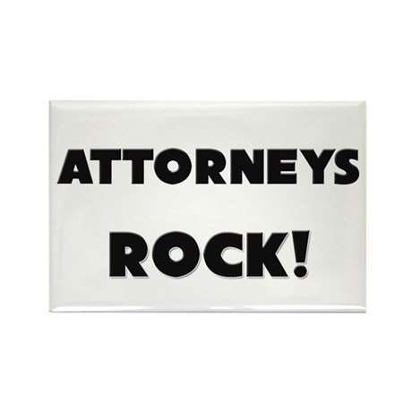 Attorneys ROCK Rectangle Magnet (10 pack)