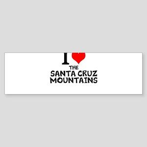 I Love The Santa Cruz Mountains Bumper Sticker