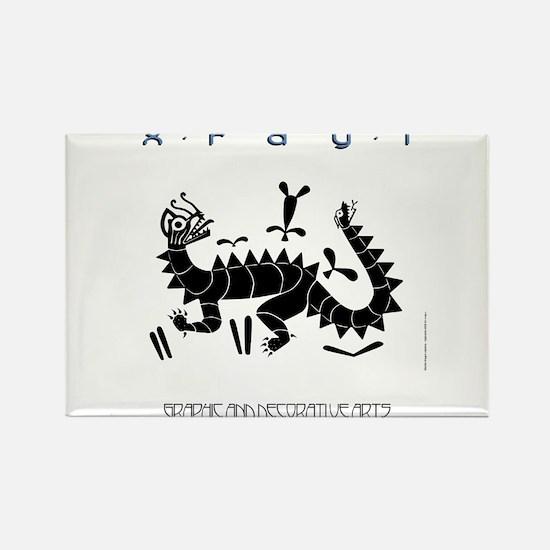 Moche Dragon Rectangle Magnet