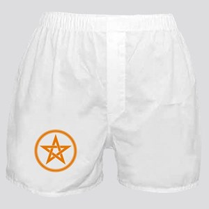 Orange Pentagram Boxer Shorts