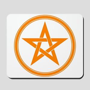Orange Pentagram Mousepad