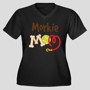 Morkie Dog Mom Plus Size T-Shirt