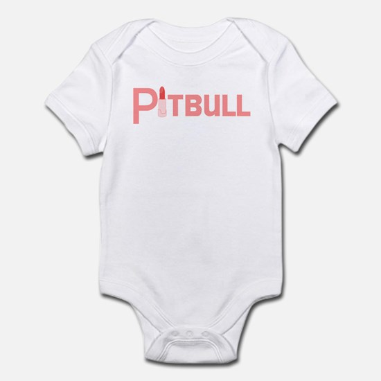 Pink Palin Pitbull with Lipstick Infant Bodysuit