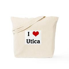 I Love Utica Tote Bag