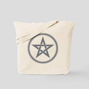 Grey Pentagram Tote Bag