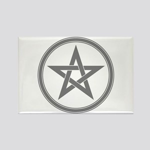 Grey Pentagram Rectangle Magnet