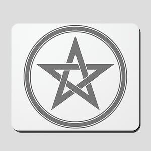 Grey Pentagram Mousepad