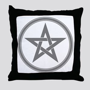 Grey Pentagram Throw Pillow