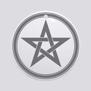 Grey Pentagram Ornament (Round)