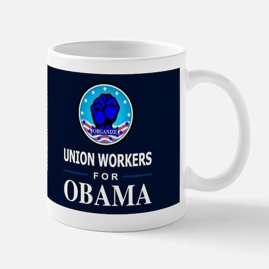 Union Workers Obama Dark Mug
