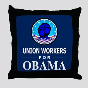 Union Workers Obama Throw Pillow