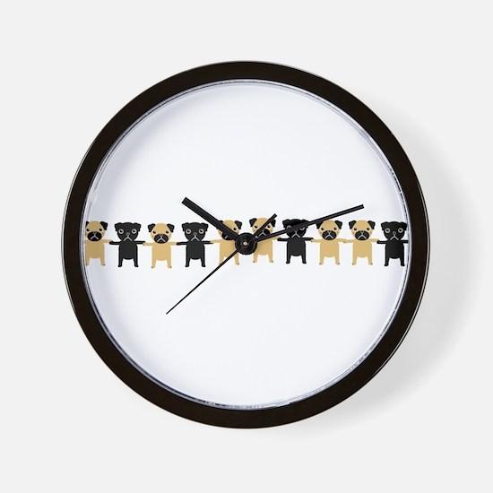 StringOPugs Wall Clock