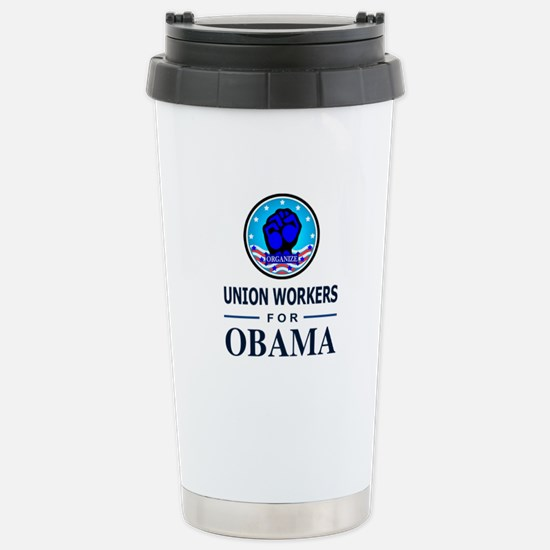 Union Workers Obama Stainless Steel Travel Mug