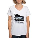 Sarah-Cuda's Lunch Women's V-Neck T-Shirt