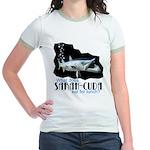 Sarah-Cuda's Lunch Jr. Ringer T-Shirt