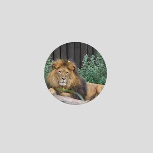 Male Lion Full Body Mini Button