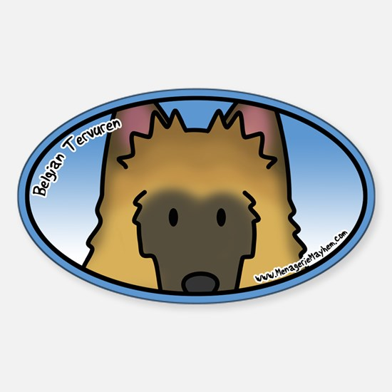 Anime Belgian Tervuren Oval Decal