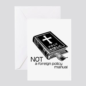 Not a Foreign Policy Manual Greeting Card