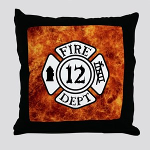 FIRE DEPT. 12 Throw Pillow