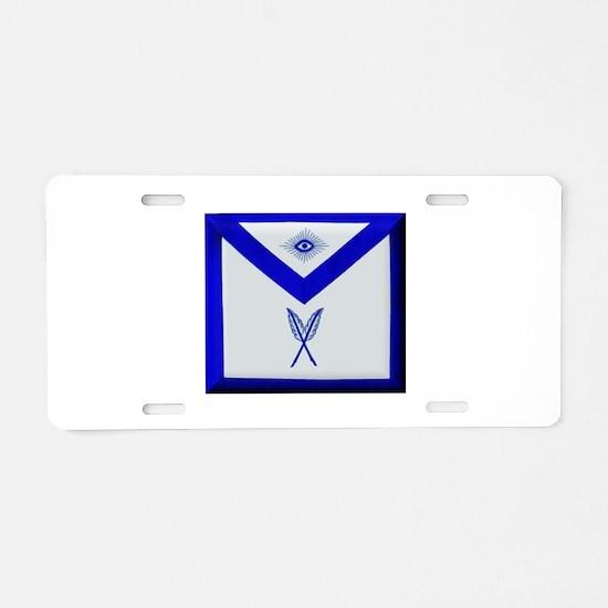 Masonic Secretary Apron Aluminum License Plate