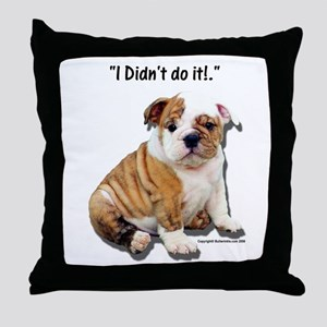 I Didn't Do It Throw Pillow