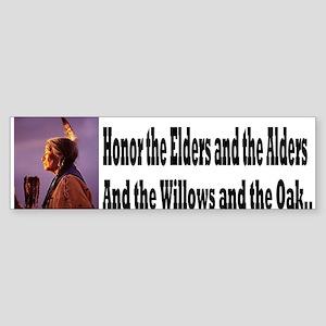 Honor the Elders Sticker (Bumper)