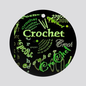 Crochet Green Ornament (Round)