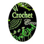 Crochet Green Oval Ornament