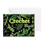 Crochet Green Greeting Cards (Pk of 20)