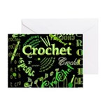 Crochet Green Greeting Card