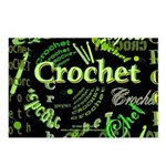 Crochet Green Postcards (Package of 8)