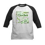 Crochet Green Kids Baseball Jersey