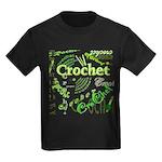 Crochet Green Kids Dark T-Shirt