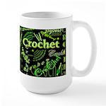 Crochet Green Dark Large Mug