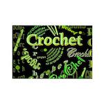 Crochet Green Rectangle Magnet
