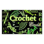 Crochet Green Rectangle Sticker 50 pk)