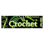 Crochet Green Bumper Sticker (10 pk)