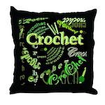 Crochet Green Throw Pillow